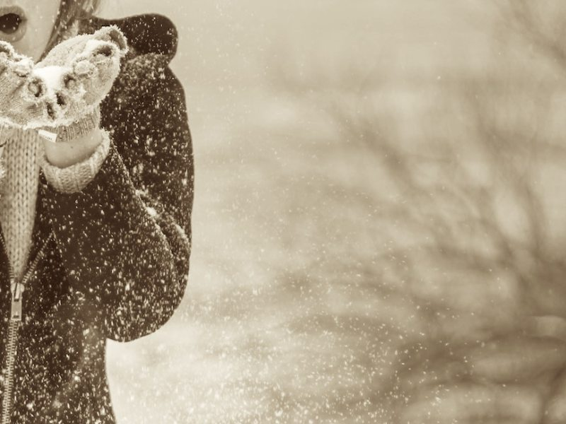 exhale of snowflakes